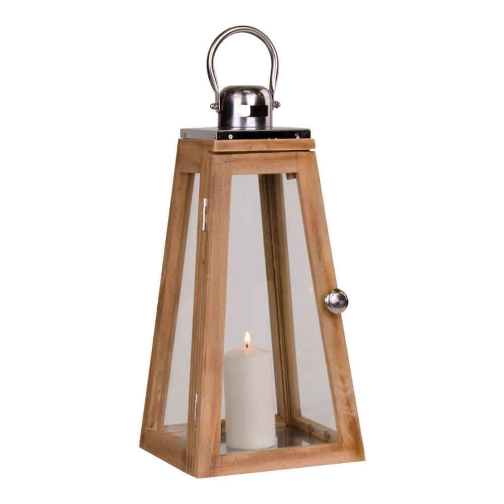 Billede af HOUSE NORDIC Eremitt lanterne i natur m. håndtag