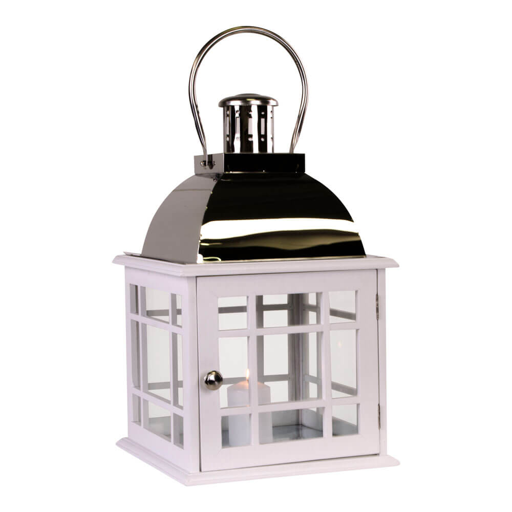 Billede af HOUSE NORDIC Varme lanterne i hvid m. håndtag