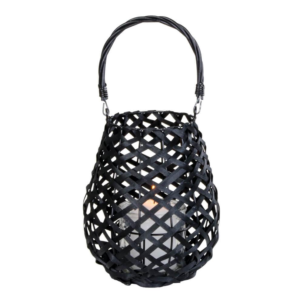 Billede af House Nordic Hasvik lanterne i sort med glas