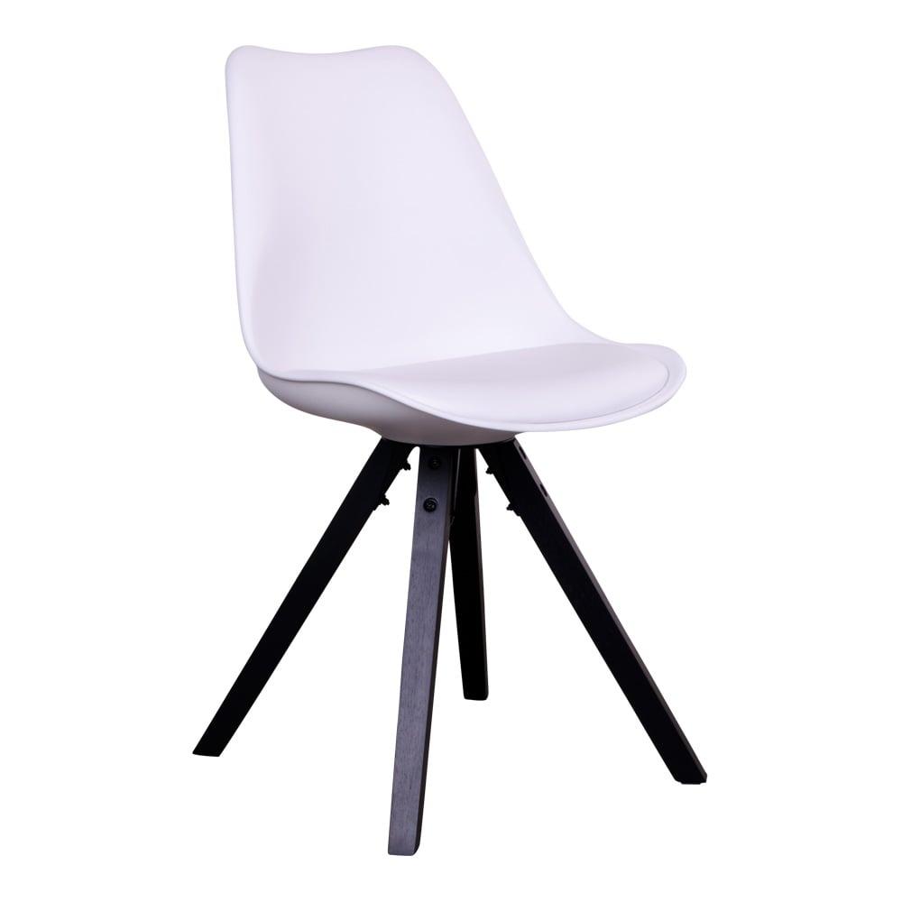 House nordic bergen spisebordsstol i hvid med sorte træben fra house nordic fra boboonline.dk