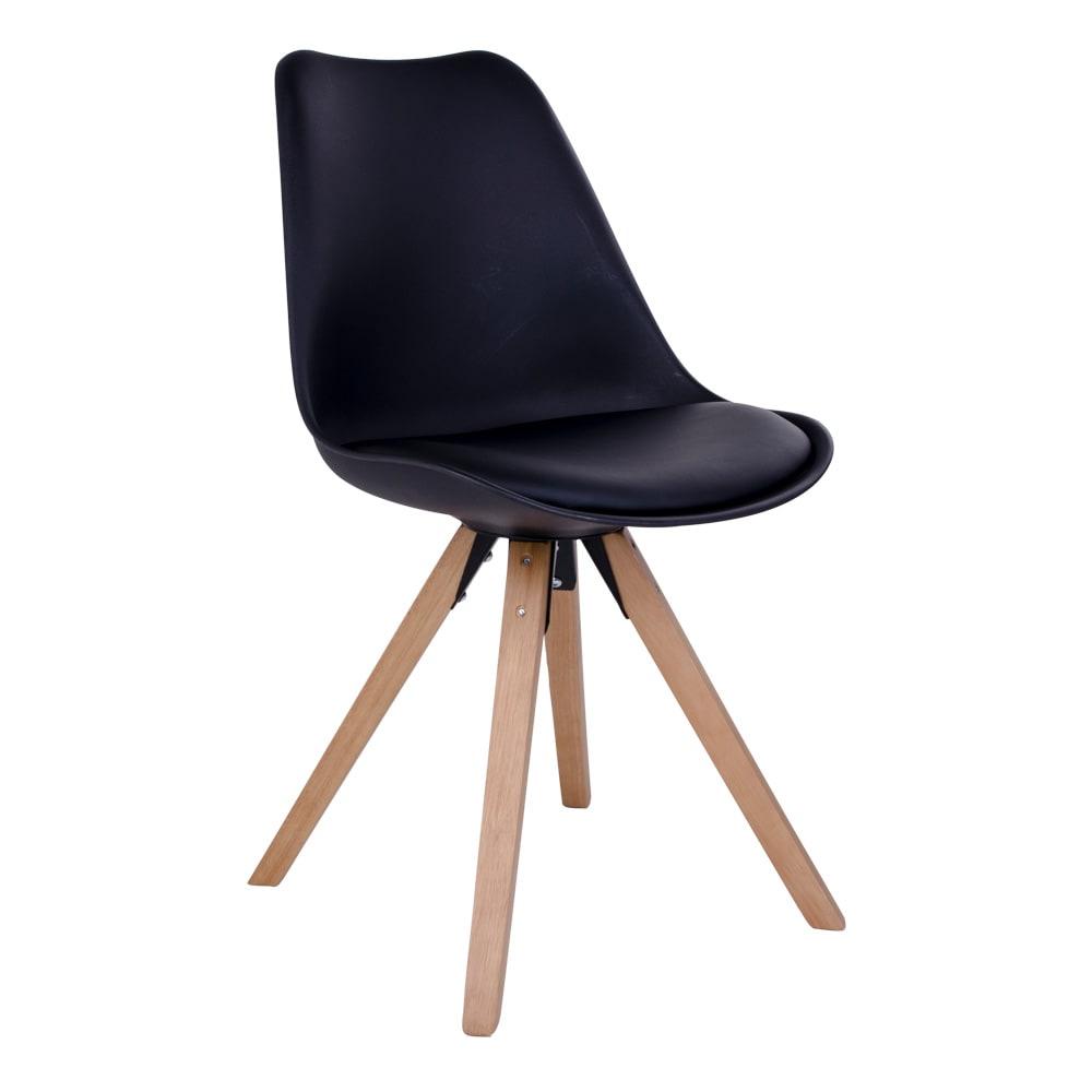 house nordic House nordic bergen spisebordsstol i sort med natur træben fra boboonline.dk