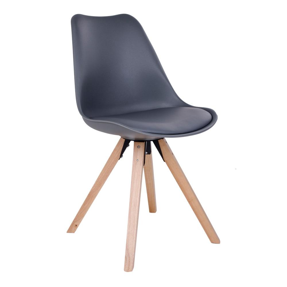 House nordic bergen spisebordsstol i grå med natur træben fra house nordic på boboonline.dk