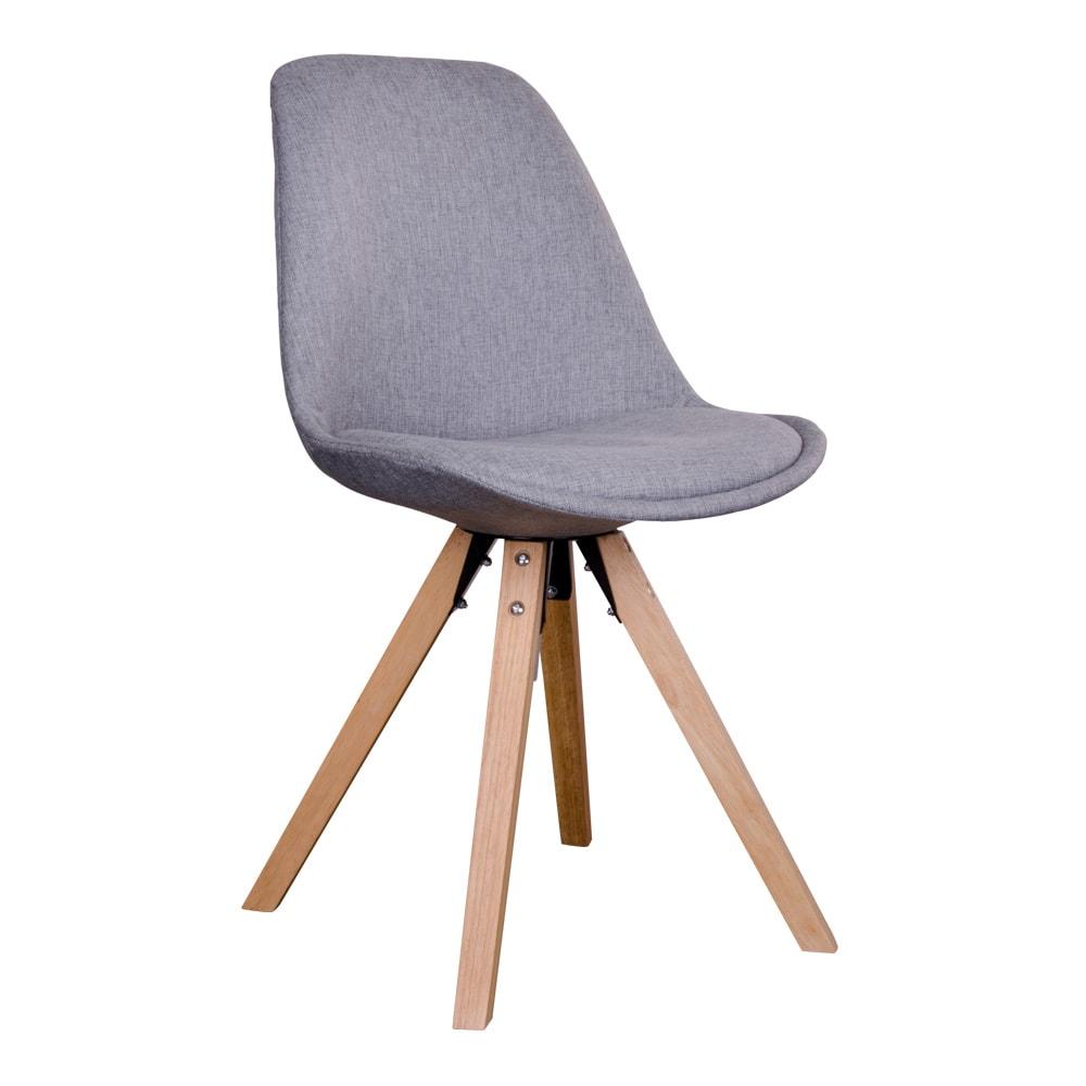 house nordic House nordic bergen spisebordsstol i lysegråt stof med natur træben fra boboonline.dk