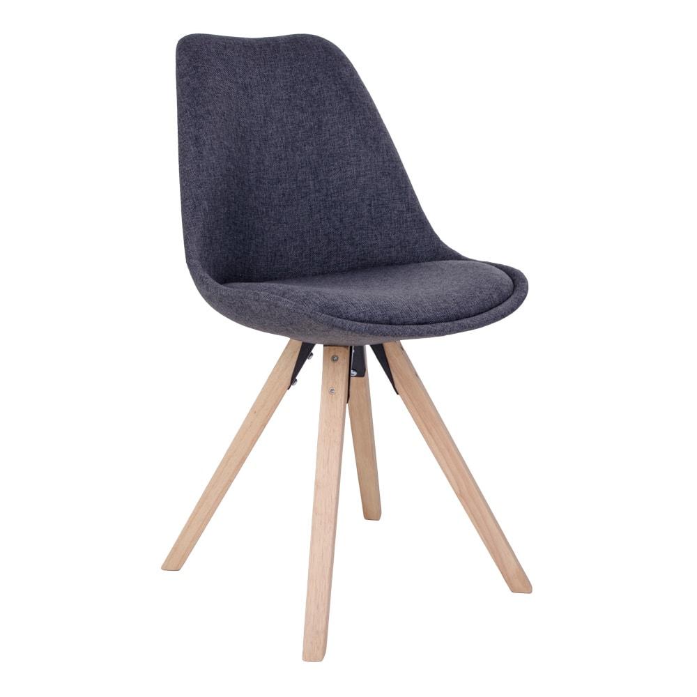 House Nordic Bergen Spisebordsstol - Mørkegråt Stof M. Ben Af Gummitræ Spisestue