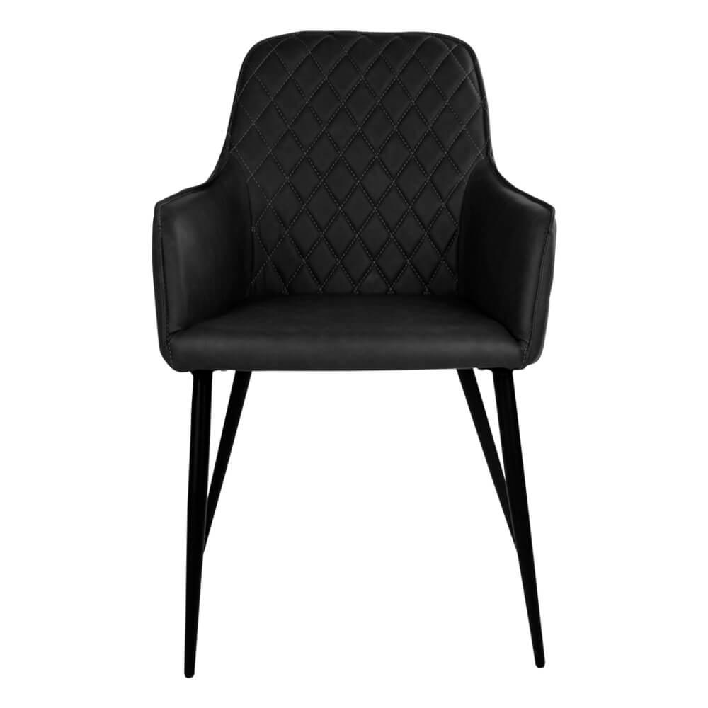 house nordic – House nordic harbo spisebordsstol med armlæn i sort kunstlæder på boboonline.dk