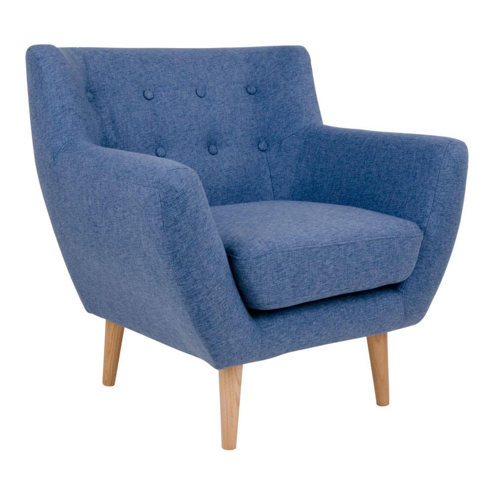 Image of   HOUSE NORDIC Monte lænestol i blåt stof