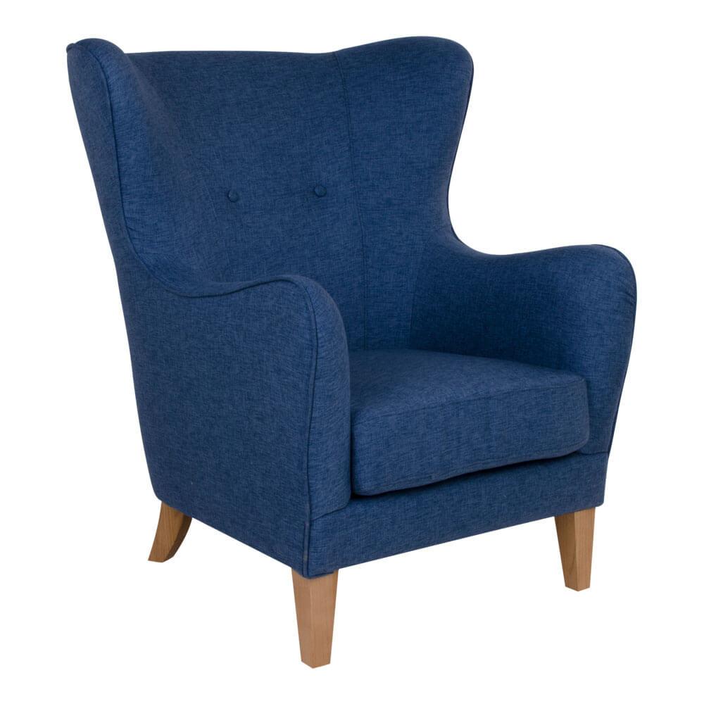 Billede af HOUSE NORDIC Campo lænestol i blåt stof