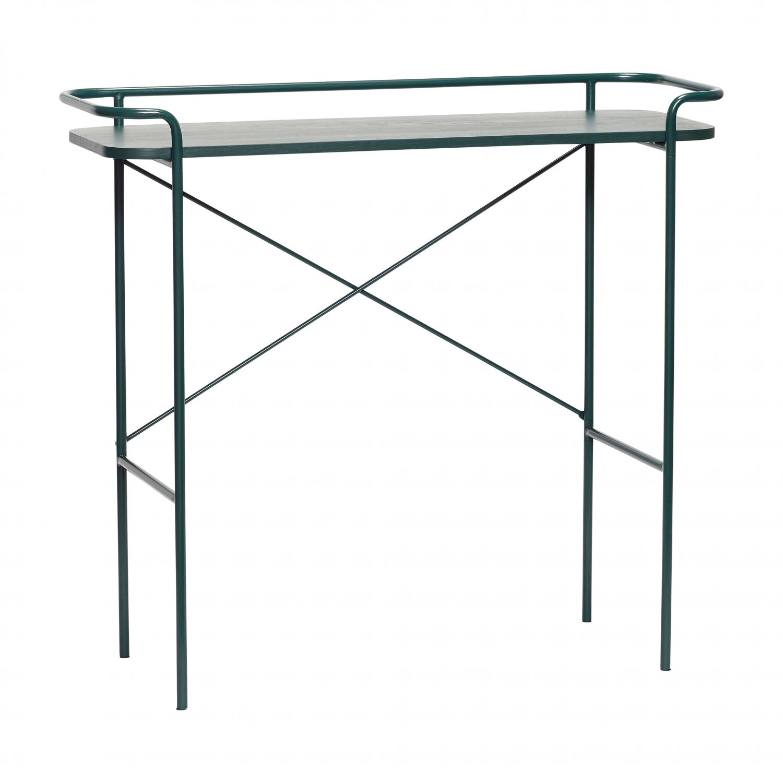 H?bsch konsolbord - grønt metal (100x37) fra hübsch fra boboonline.dk
