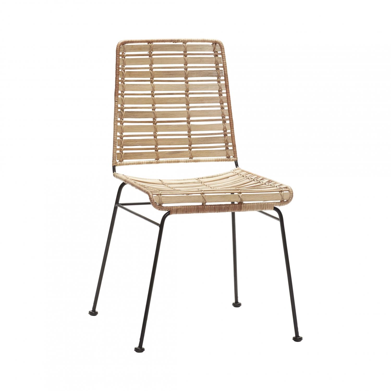 Image of   HÜBSCH spisebordsstol, naturligt rattan