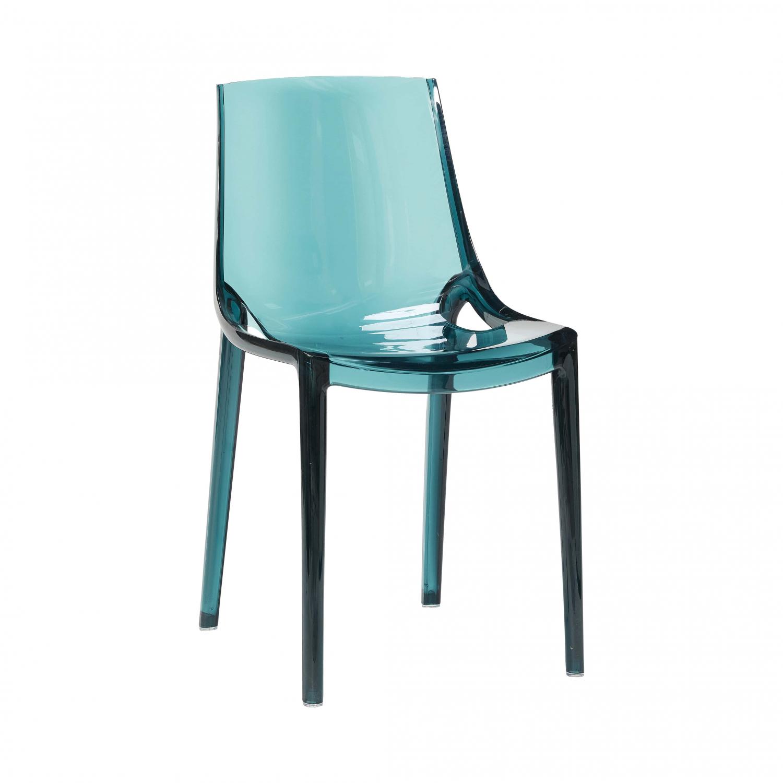 Image of   HÜBSCH spisebordsstol af grøn klar plastik
