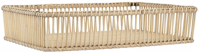 Aflang bakke af bambus