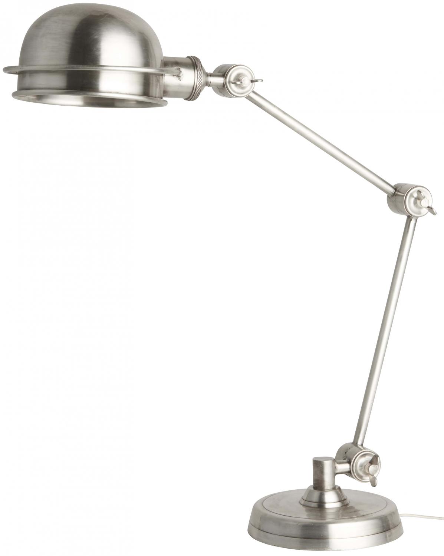 Billede af IB LAURSEN Bordlampe med rund metalskærm, sølv
