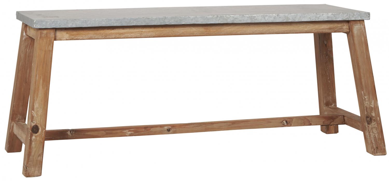 IB LAURSEN træbænk med zink top