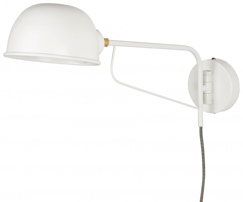 Billede af IB LAURSEN hvid væglampe m rund skærm, hvid metal