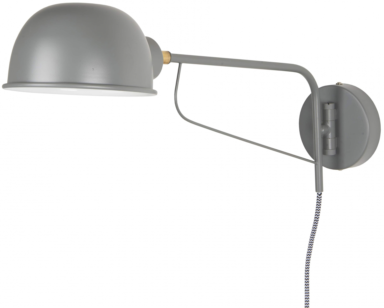 Billede af IB LAURSEN væglampe med rund skærm, grå
