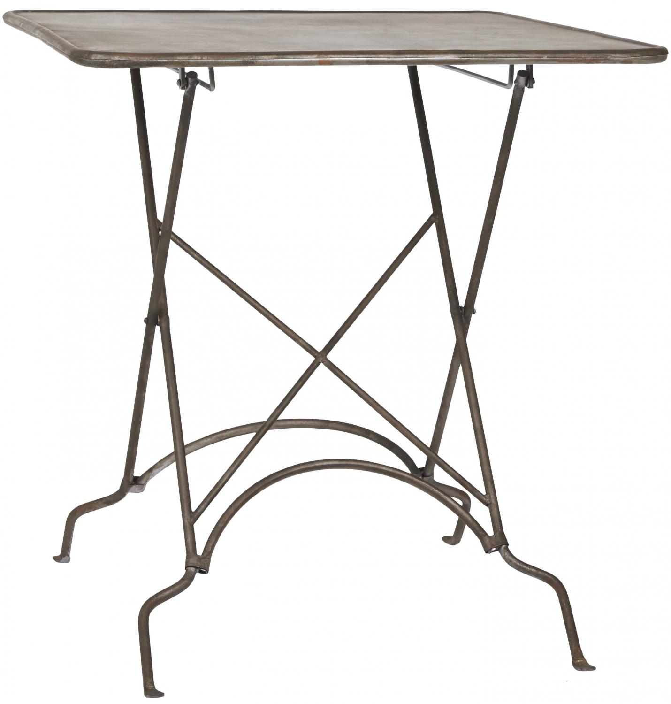 Image of   IB LAURSEN Firkantet cafébord, sort metal