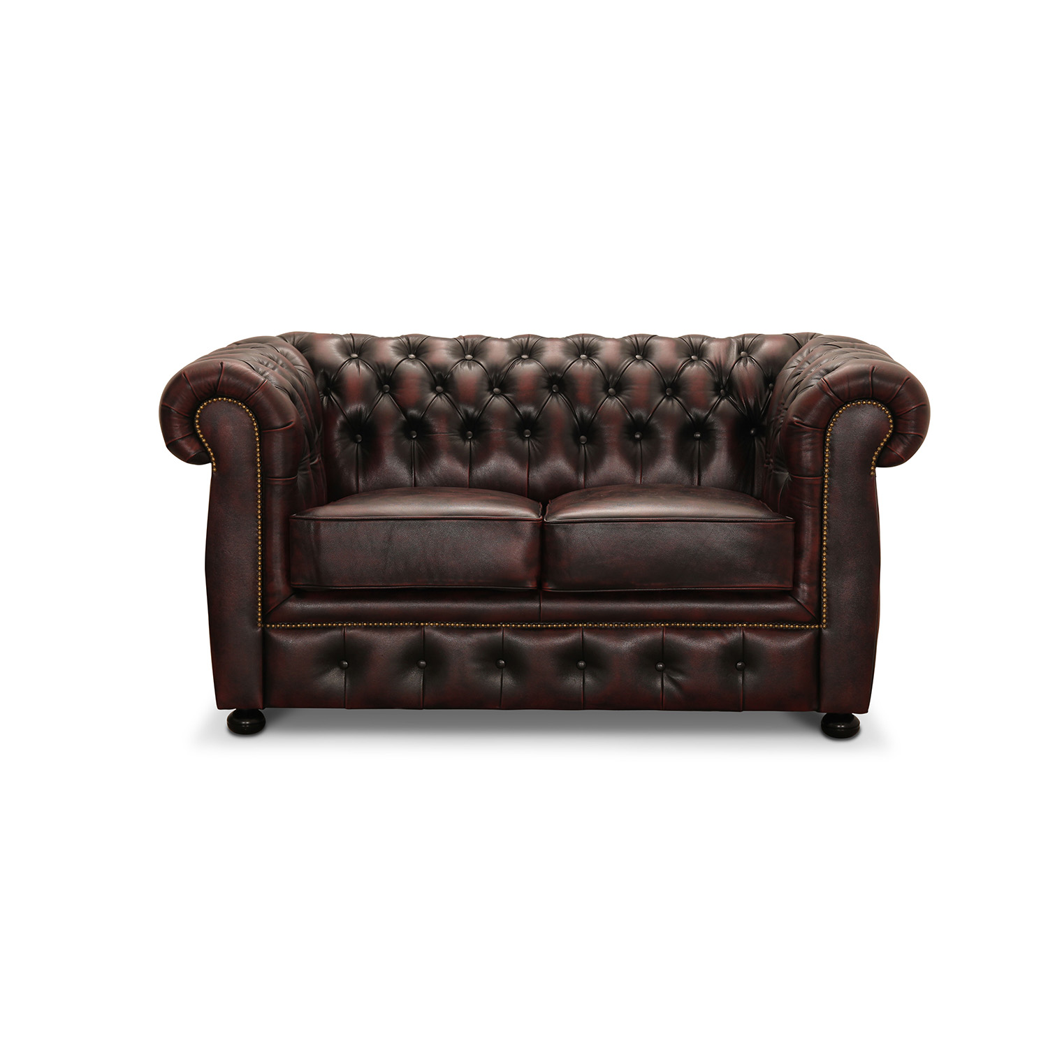 Image of   HAGA Liverpool 2 chesterfield sofa - oxblod læder