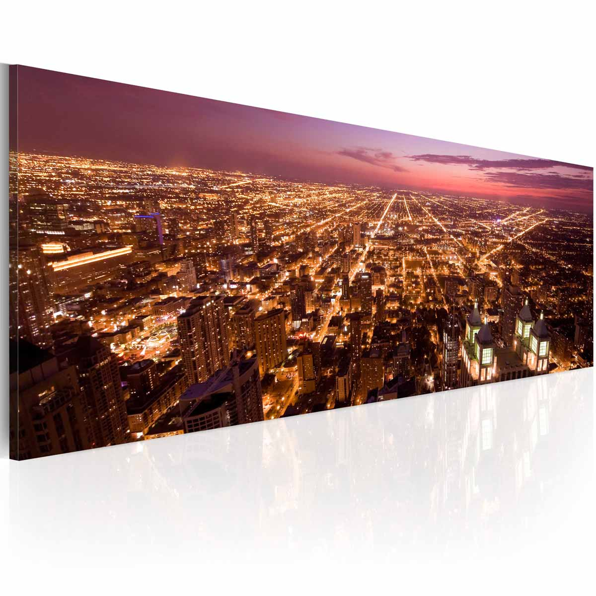 Image of   ARTGEIST Billede - Canvas print - Flight over Chicago