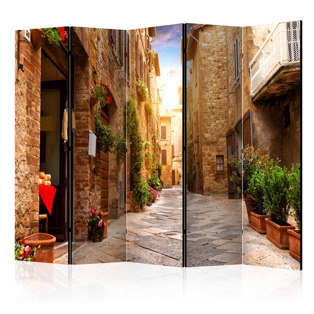 Image of   ARTGEIST Skærmvæg - Colourful Street in Tuscany II [Room Dividers]
