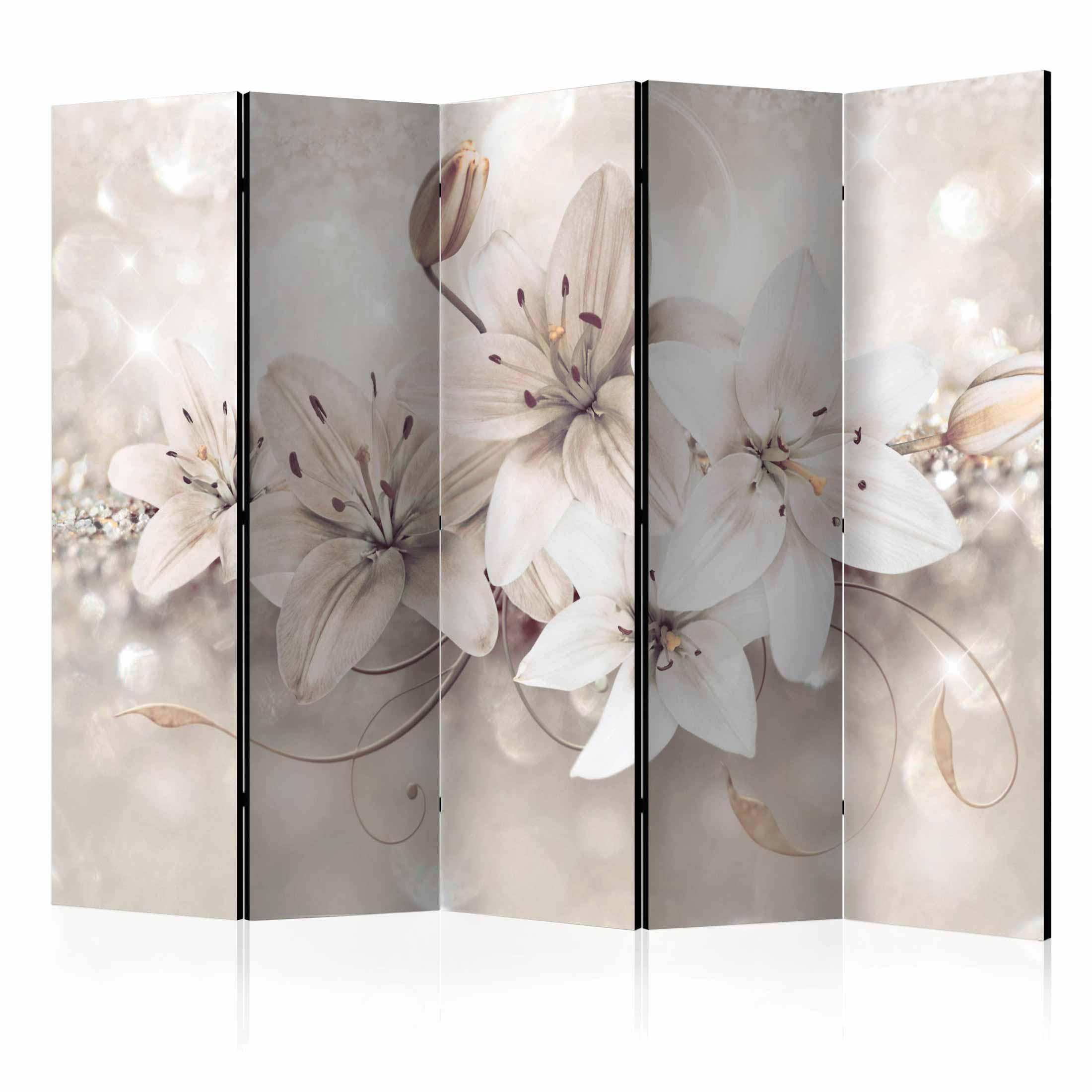 Image of   ARTGEIST Skærmvæg - Diamond Lilies II [Room Dividers]
