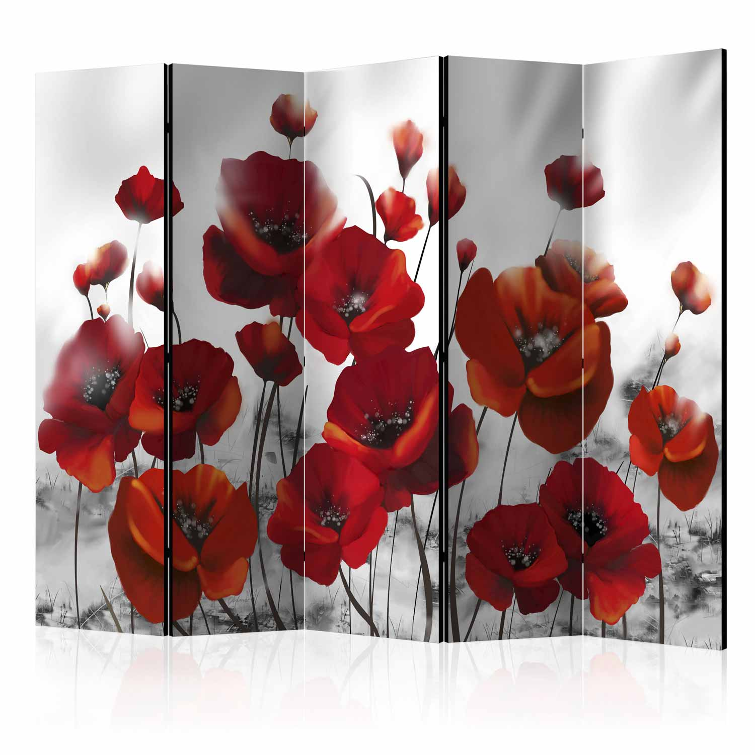 Image of   ARTGEIST Skærmvæg - Poppies in the Moonlight II [Room Dividers]