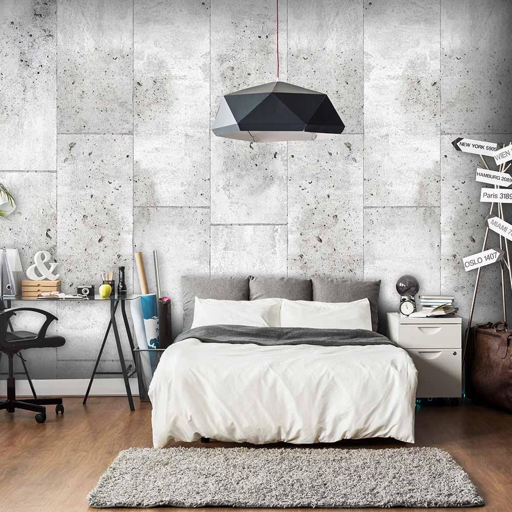 artgeist – Artgeist concretum murum fototapet - grå print (1000x50) fra boboonline.dk