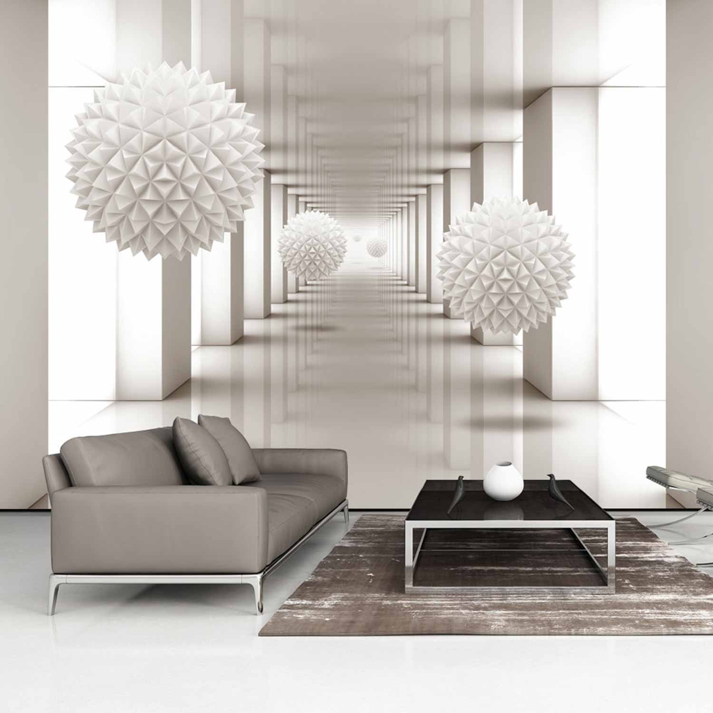 artgeist – Artgeist gateway to the future fototapet - creme/hvid print (105x150) på boboonline.dk