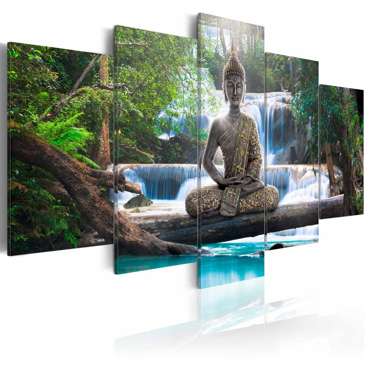 Image of   ARTGEIST Billede - Buddha and waterfall