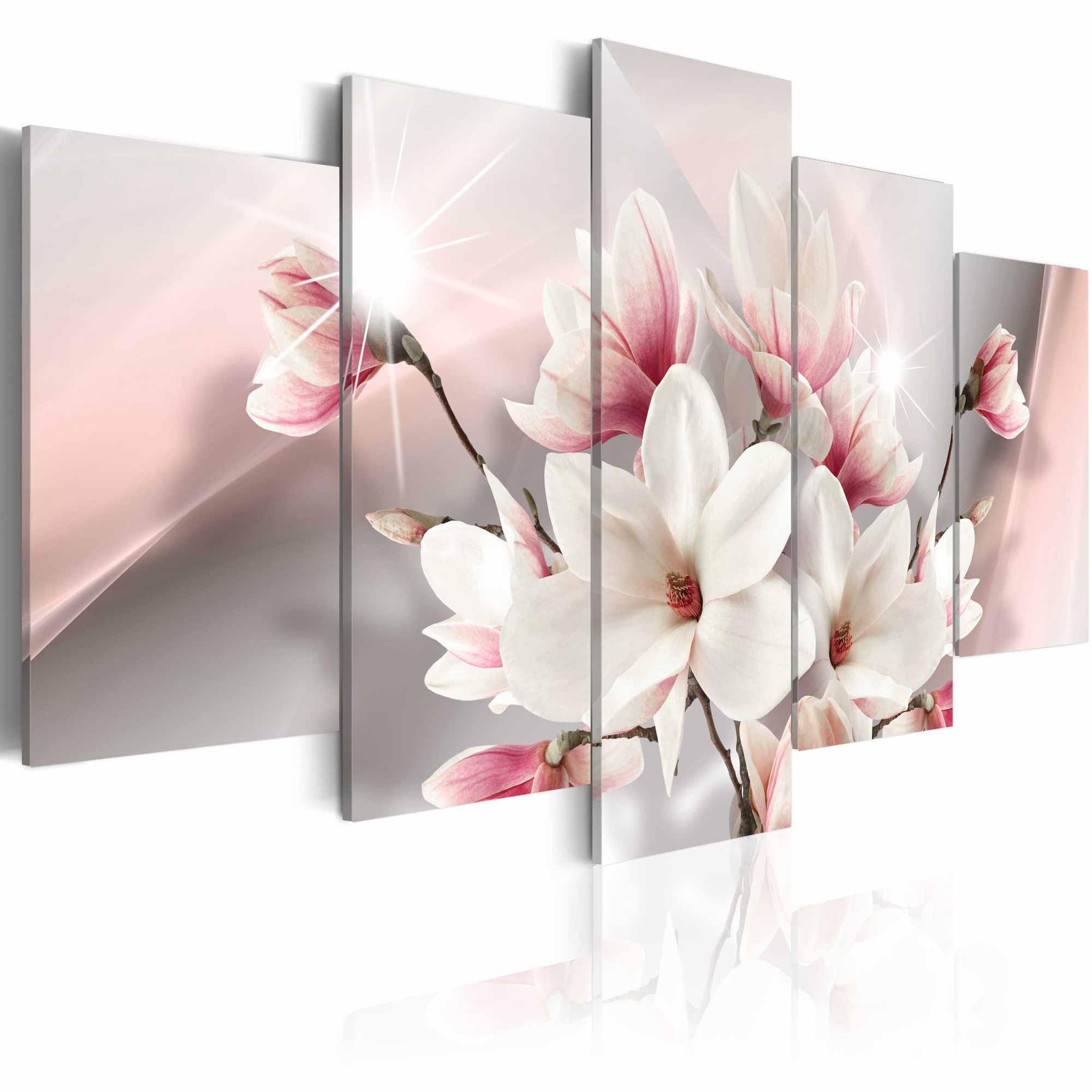 artgeist – Artgeist magnolia in bloom billede - multifarvet print, 2 størrelser 200x100 fra boboonline.dk