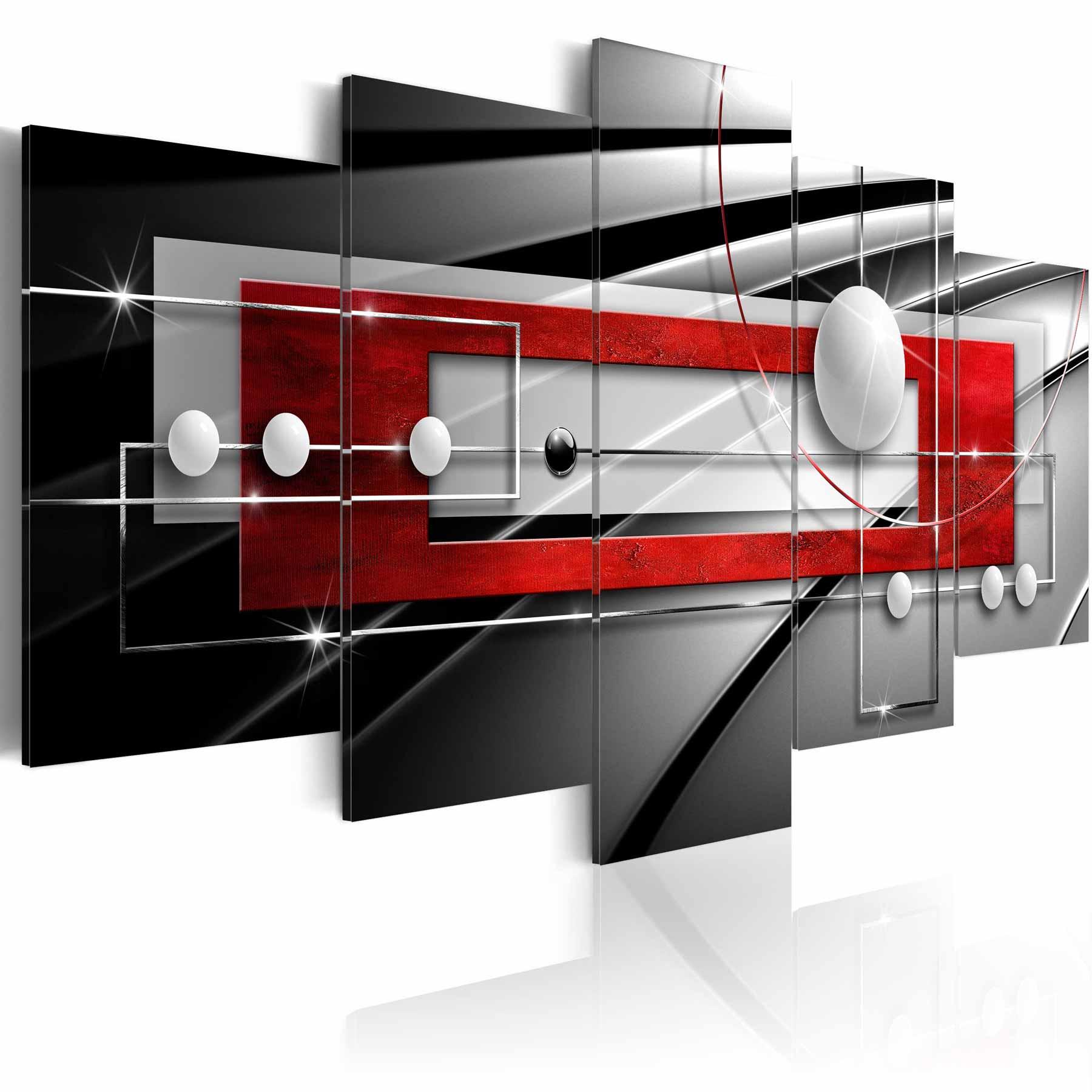 artgeist – Artgeist modern symmetry billede - multifarvet print, 2 størrelser 100x50 fra boboonline.dk