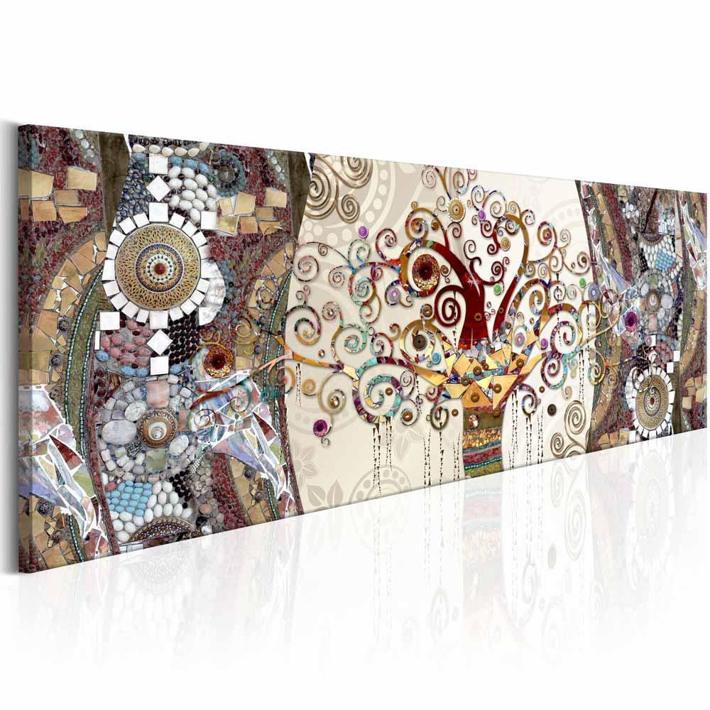 artgeist Artgeist mosaic abstract billede - multifarvet print, 2 størrelser 120x40 på boboonline.dk