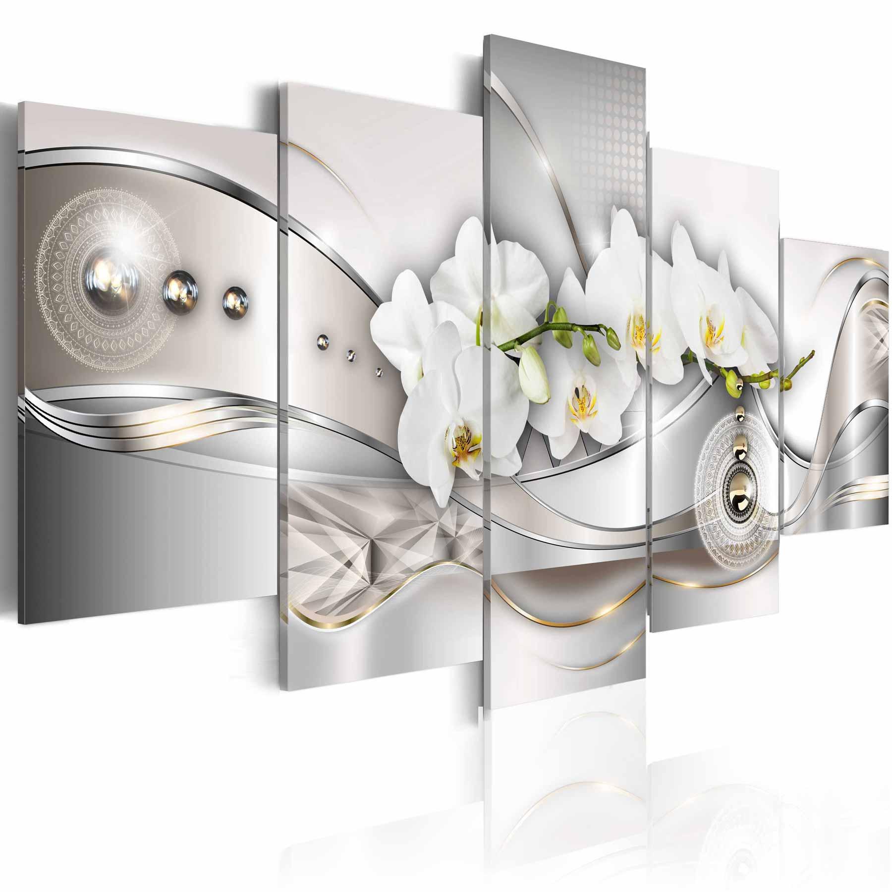 artgeist Artgeist pearl dance of orchids billede - multifarvet print, 2 størrelser 200x100 fra boboonline.dk