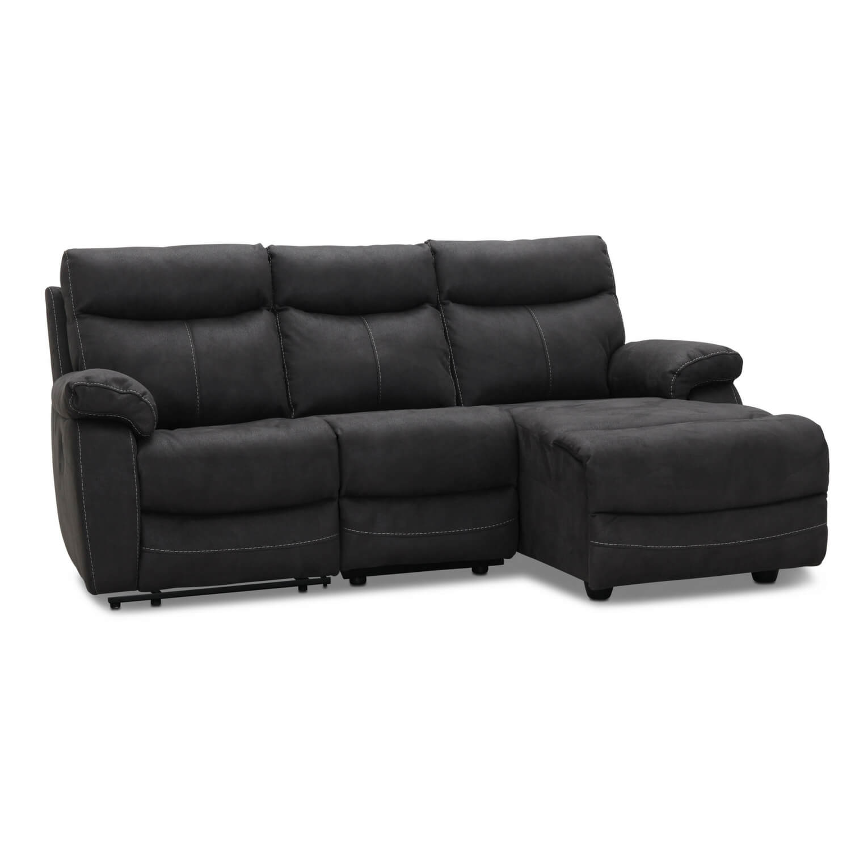 Indiana recliner Biograf sofa med chaiselong venstre, grå stof