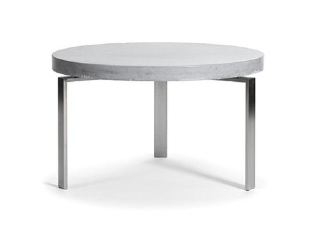 Rundt beton sofabord - plusCIRCLETABLE Ø: 80 cm Hvid