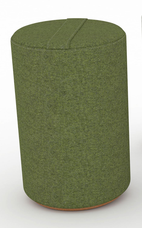 Billede af JENSENPLUS K2 puf, ergonomisk, Grøn, Underlag: massiv kork, tekstil