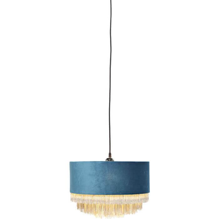 kare design Kare design tassel loftslampe - blågrøn stof, rundt (ø:40) på boboonline.dk