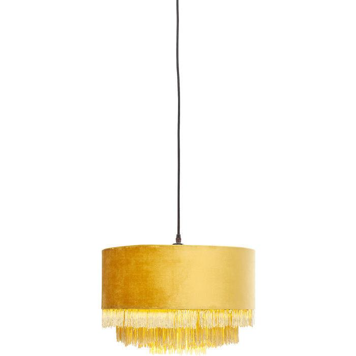 Kare design tassel loftslampe - gult stof, rundt (ø:40) fra kare design fra boboonline.dk
