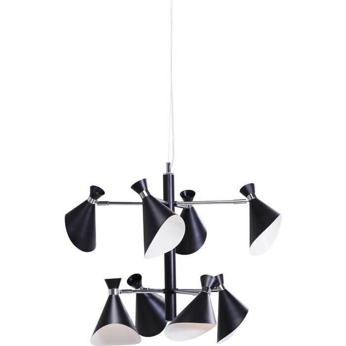 kare design Kare design caps 8 loftslampe - lakeret stål og sorte skærme, 8 lamper fra boboonline.dk