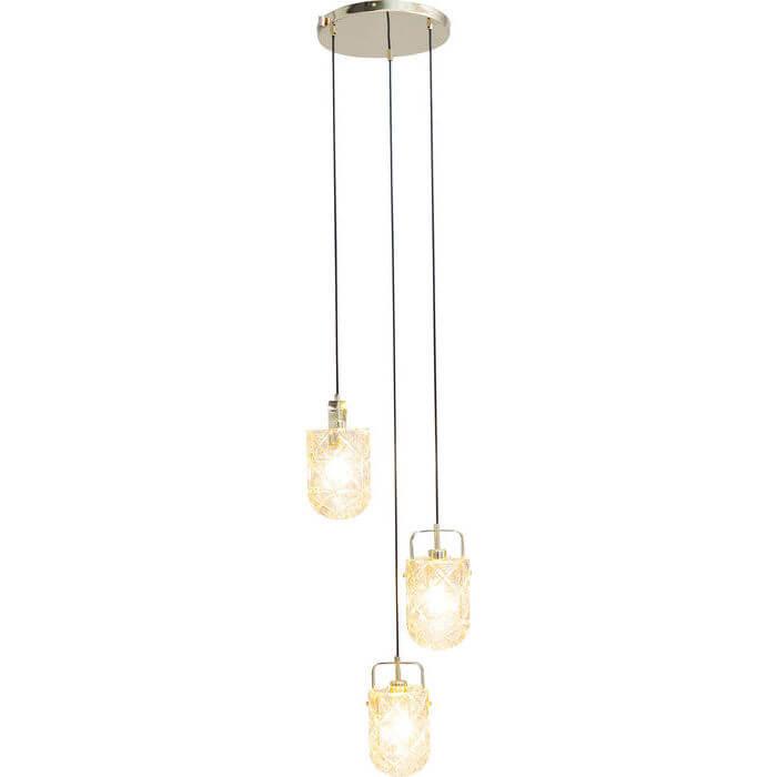 kare design Kare design star loftslampe - klar glas og guldfarvet stål, 3 lamper på boboonline.dk