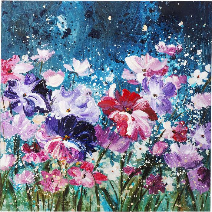 Image of   KARE DESIGN Oliemaleri, Flower Garden 100 x 100 cm
