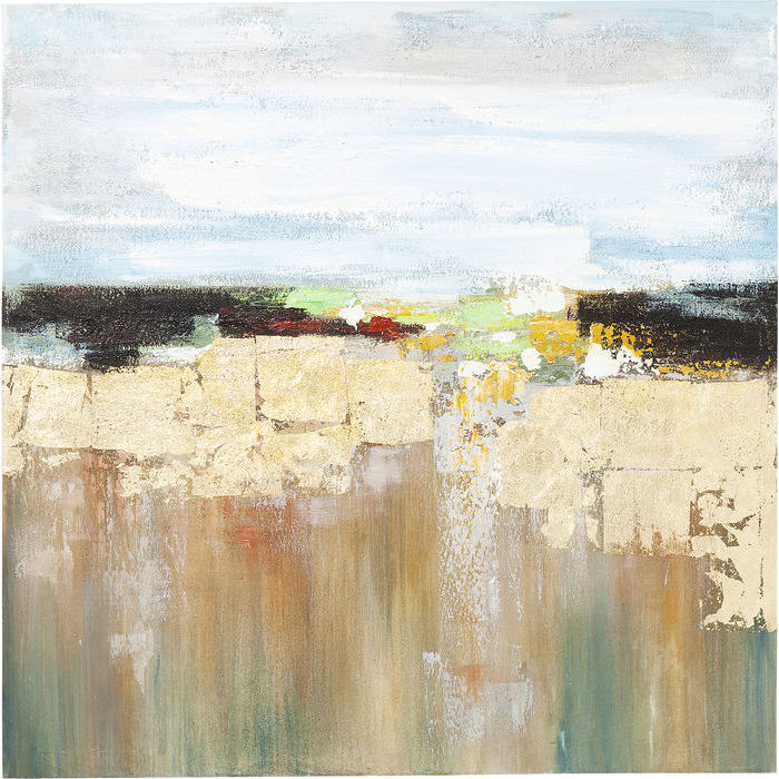Image of   KARE DESIGN Oliemaleri, Abstract Landscape 120 x 120 cm