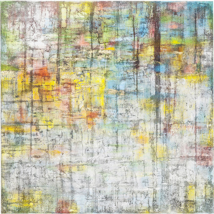 Image of   KARE DESIGN Oliemaleri, Abstract Colore 150 x 150 cm