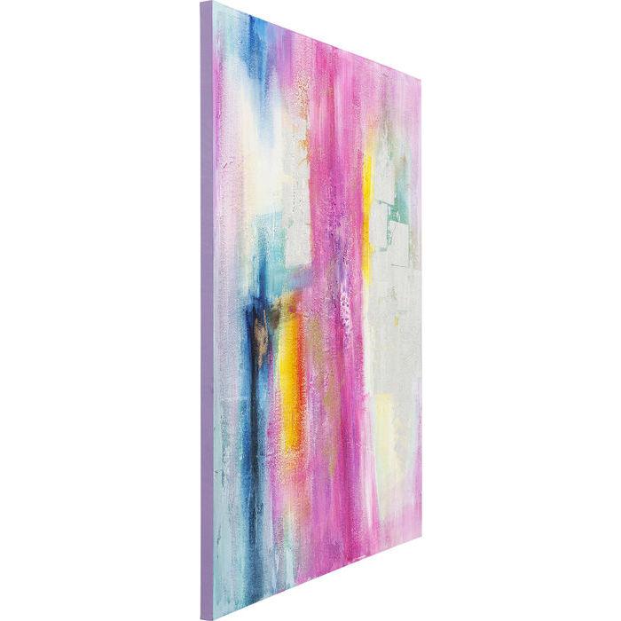 Image of   KARE DESIGN Oliemaleri, Pink-Silver 150 x 120 cm