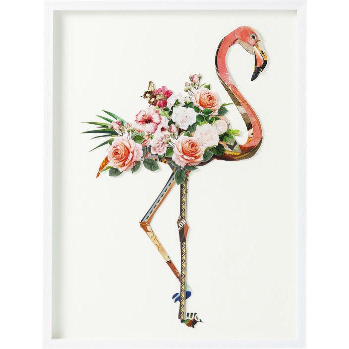 Image of   KARE DESIGN Billede, Frame Art Flamingo 100 x 75 cm