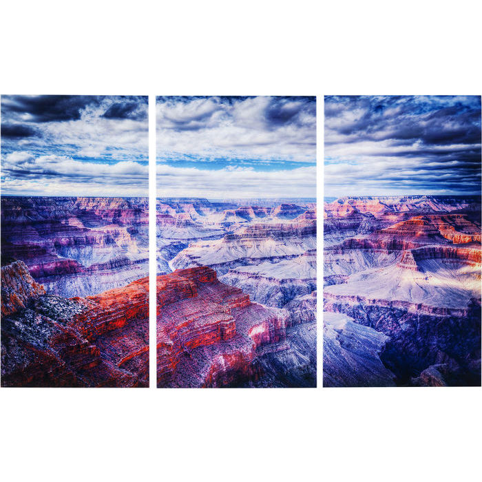 Image of   KARE DESIGN Billede, Glass Triptychon Grand Canyon 160 x 240 cm (3/