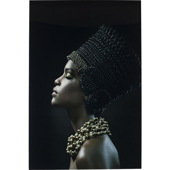Image of   KARE DESIGN Billede, Glass Royal Headdress Profile 150 x 100 cm