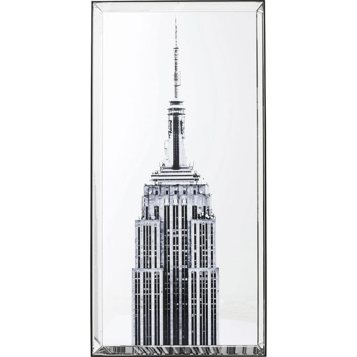Image of   KARE DESIGN Billede, Mirror Empire State Building 120 x 60 cm