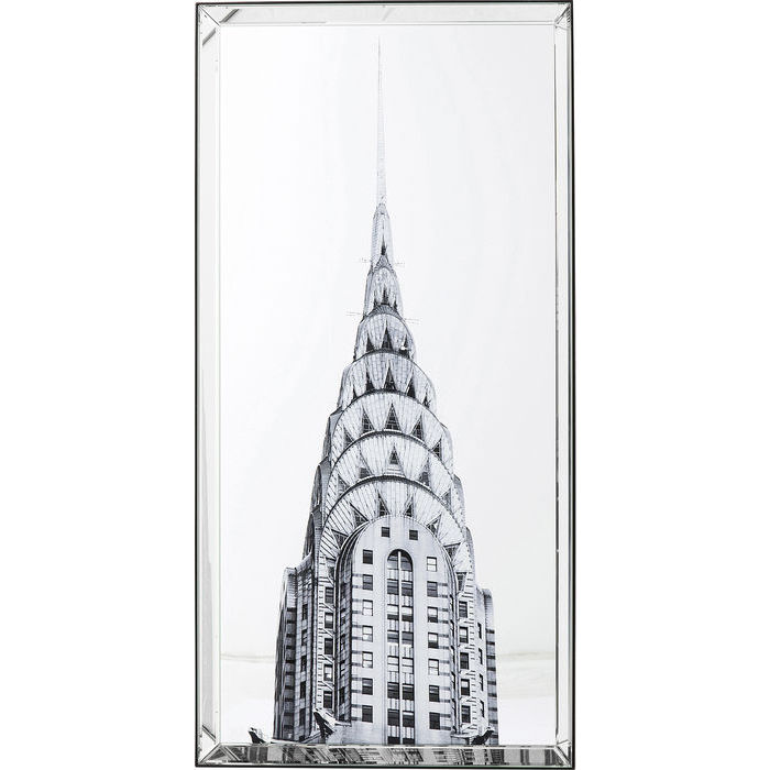 Image of   KARE DESIGN Billede, Mirror Chrysler Building 120 x 60 cm