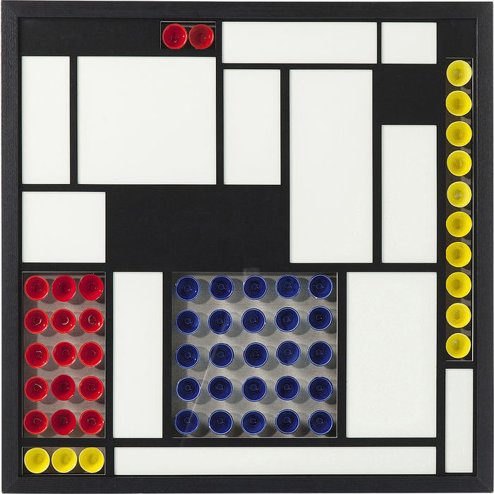 Image of   KARE DESIGN Vægdekoration, Frame Squares Colore 80 x 80 cm