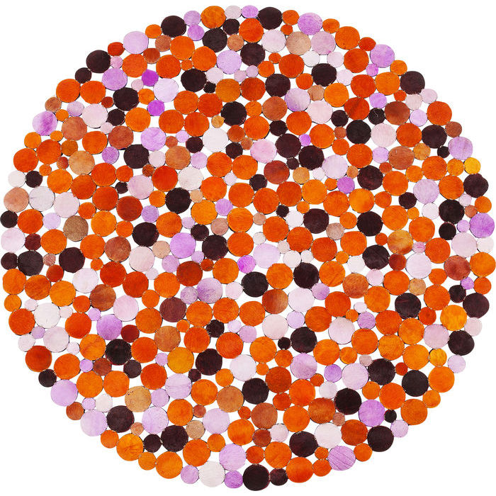 Image of   KARE DESIGN Tæppe, Circle Orange Multi Ø150 cm